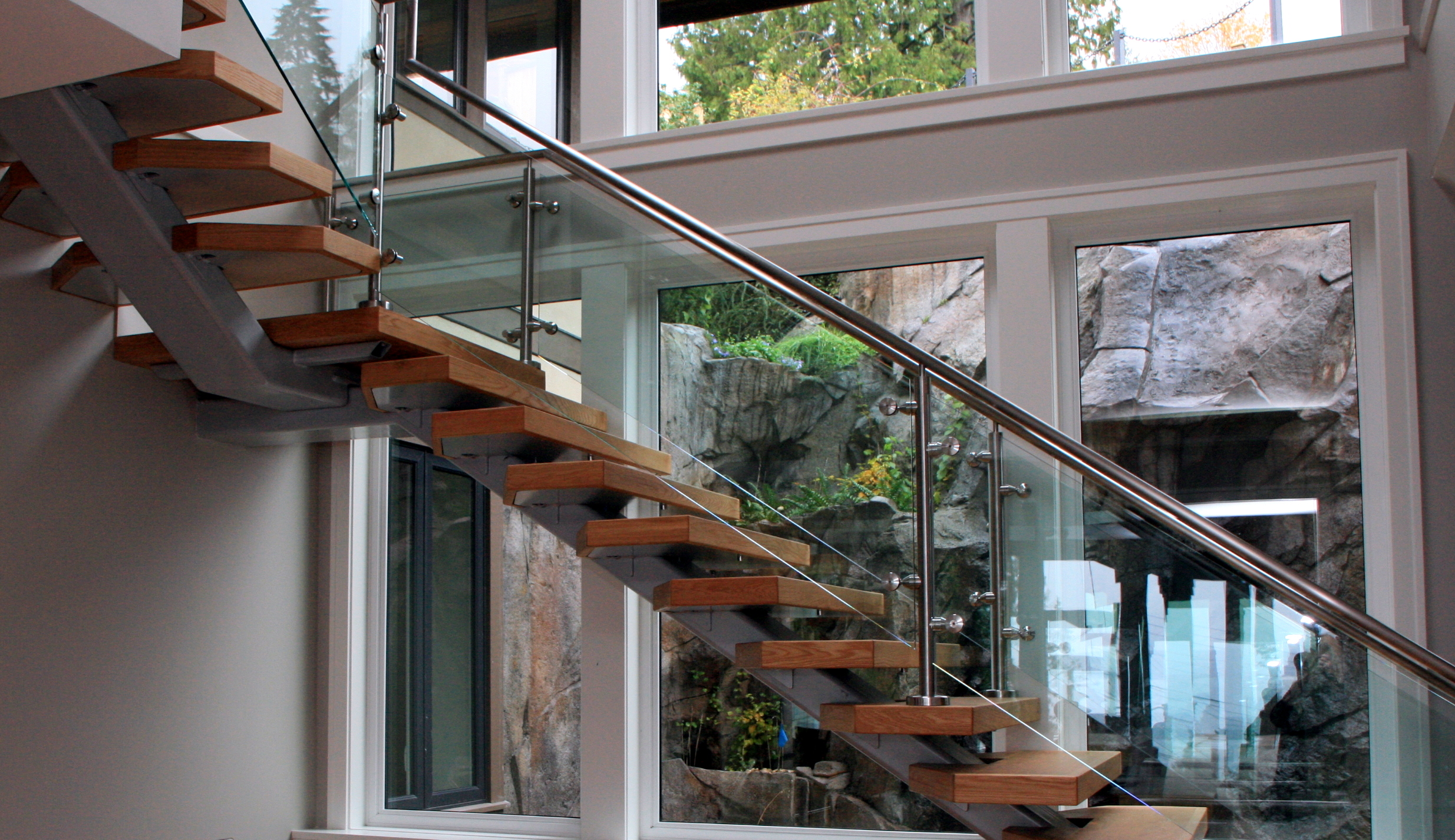 Floating Staircase West Vancouver S T I Steeltec