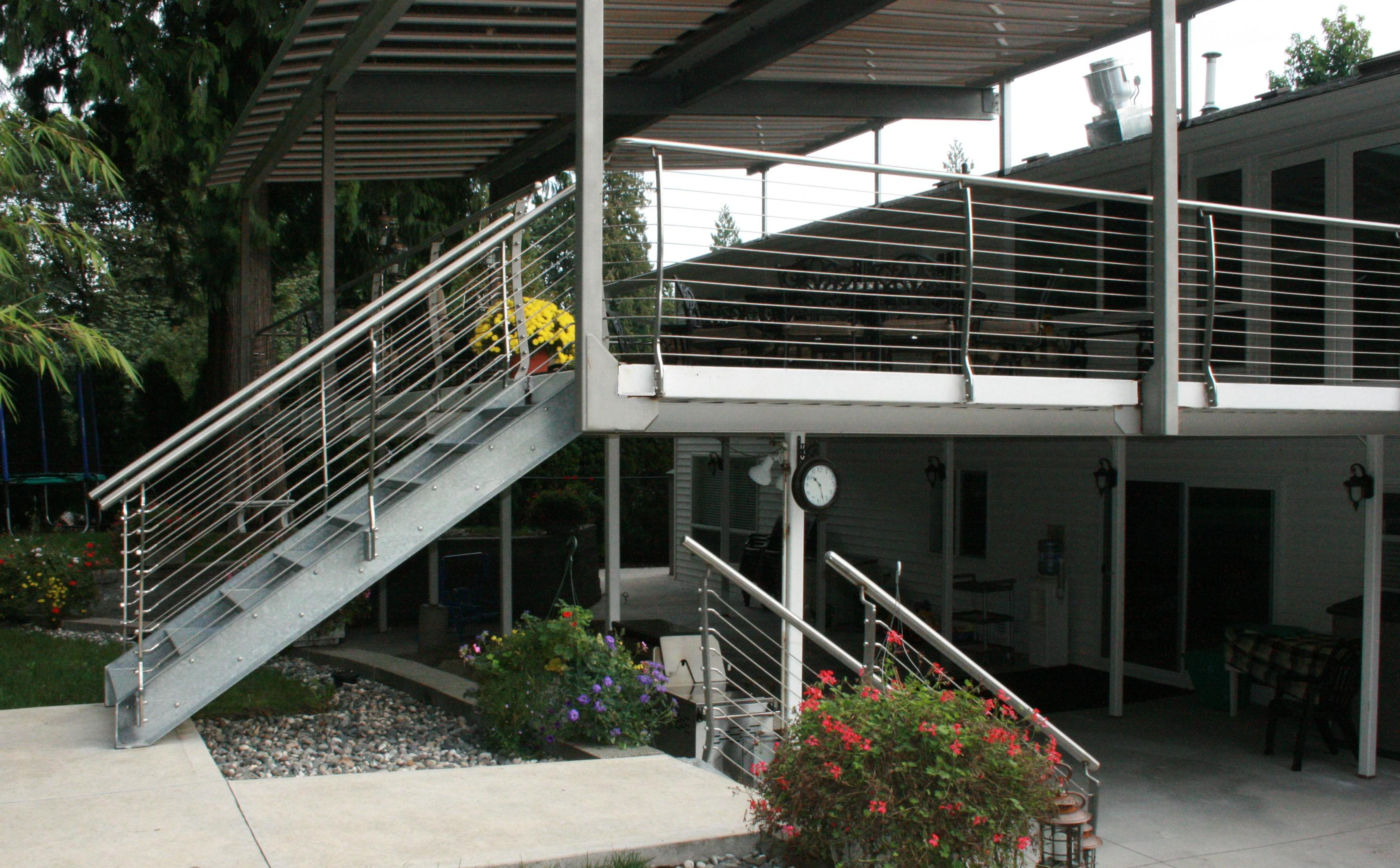 Ordinaire Stainless Steel Patio Railing With Galvanized Stairs